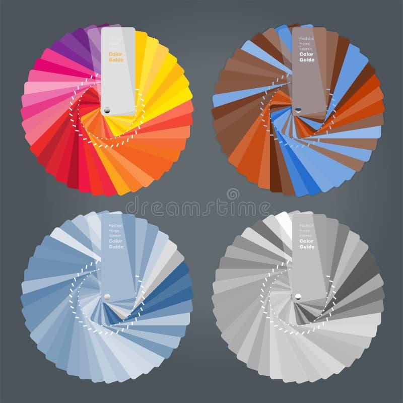 Ejemplo de la guía de las paletas de colores para el interiorista casero libre illustration