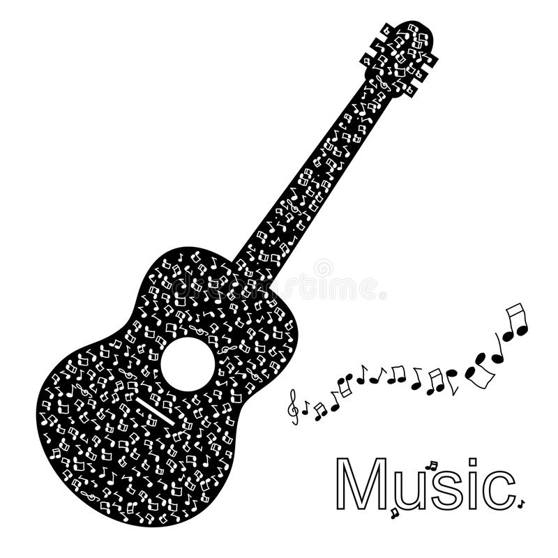 Ejemplo de la guitarra ilustración del vector