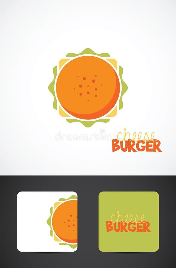 Ejemplo de la hamburguesa del queso stock de ilustración