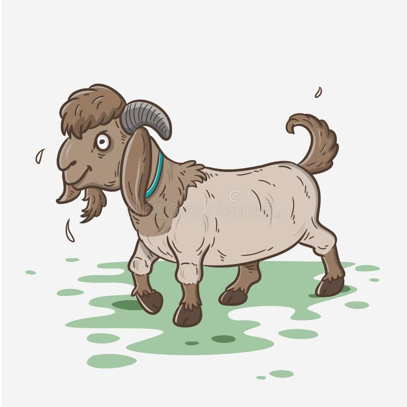 Ejemplo de la historieta de la cabra fotografía de archivo
