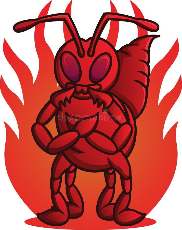 Ejemplo de la historieta de la hormiga de fuego salvaje libre illustration