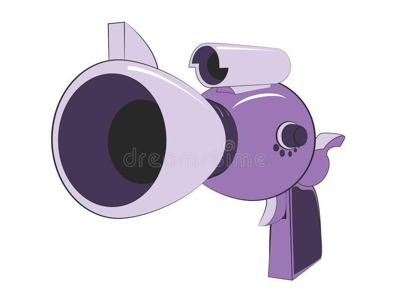 Arma de rayo extranjero ilustración del vector