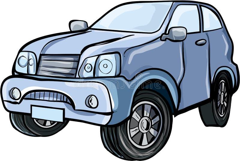 Ejemplo de la historieta de un vehículo utilitario del deporte stock de ilustración