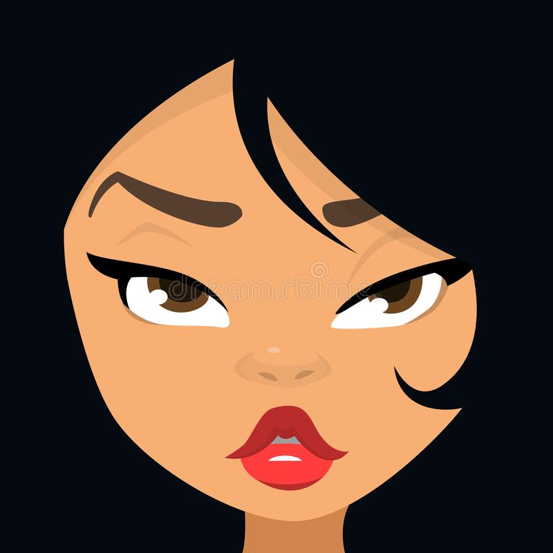 Ejemplo De La Historieta Del Avatar De La Cara De La Mujer Sistema