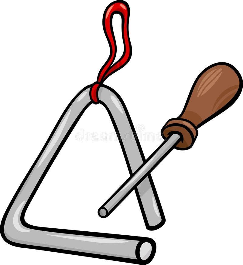 Ejemplo de la historieta del clip art de la percusión del triángulo