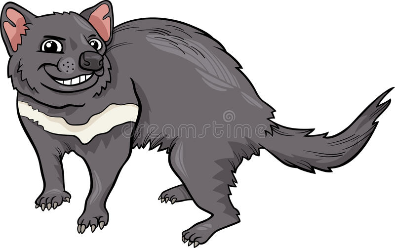 Ejemplo de la historieta del diablo tasmano ilustración del vector