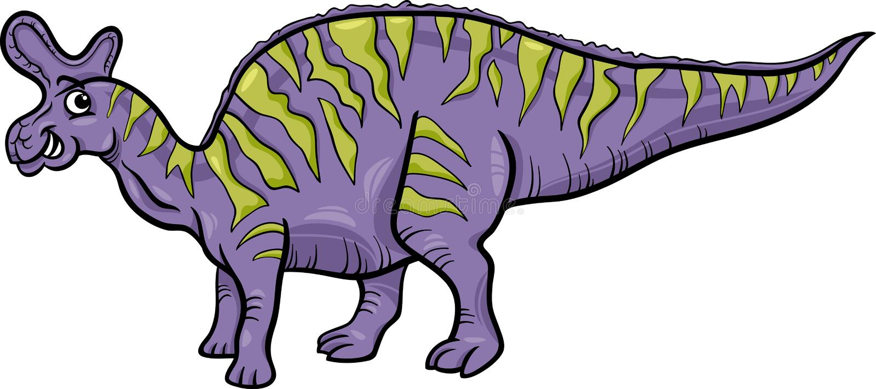Ejemplo de la historieta del dinosaurio de Lambeosaurus stock de ilustración
