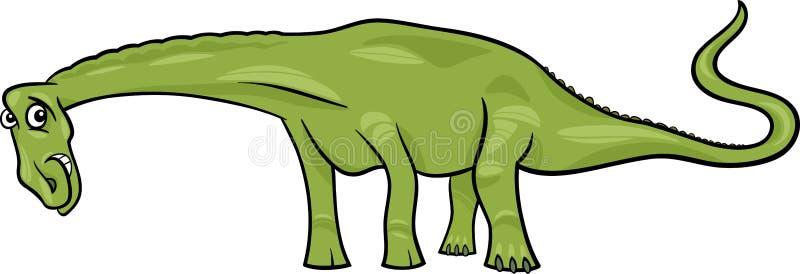 Ejemplo de la historieta del dinosaurio del diplodocus ilustración del vector