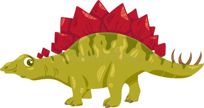 Ejemplo de la historieta del dinosaurio del Stegosaurus stock de ilustración