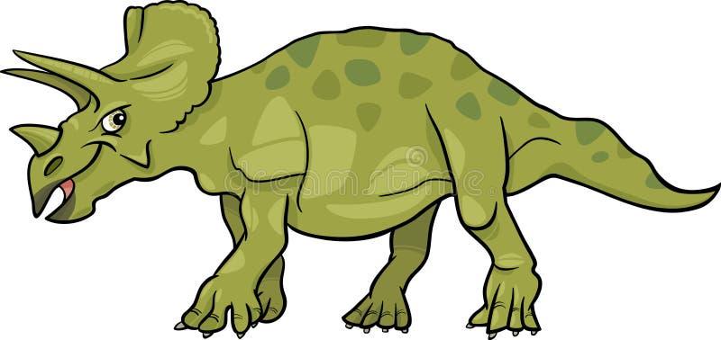 Ejemplo de la historieta del dinosaurio del triceratops stock de ilustración