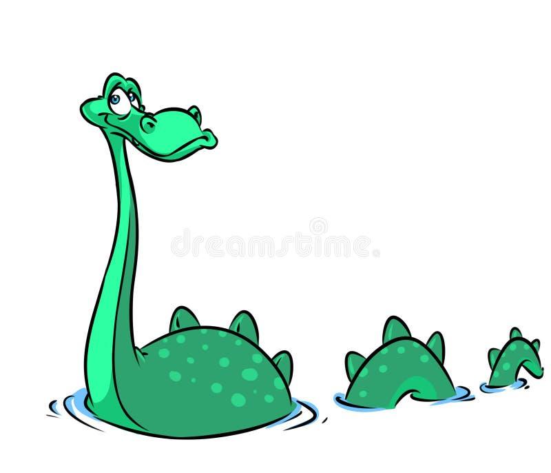 Ejemplo de la historieta del monstruo de Loch Ness libre illustration