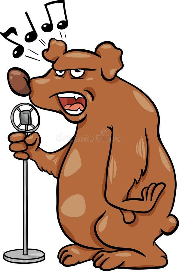 Ejemplo de la historieta del oso del canto libre illustration