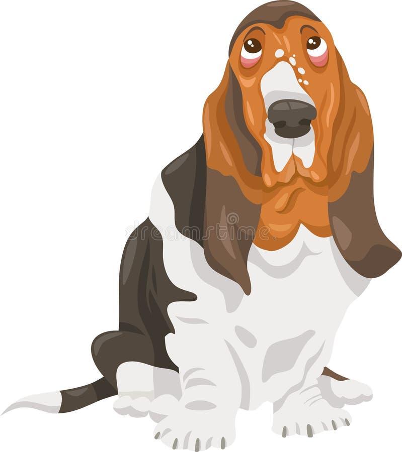 Ejemplo de la historieta del perro de caza del afloramiento libre illustration
