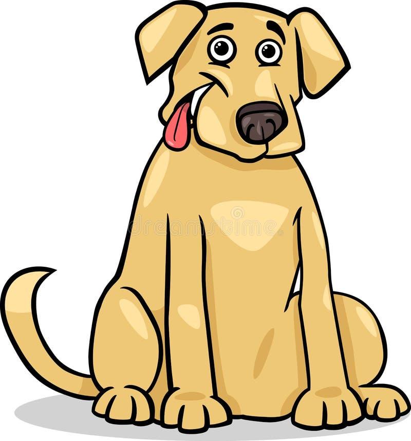 Ejemplo de la historieta del perro del labrador retriever ilustración del vector