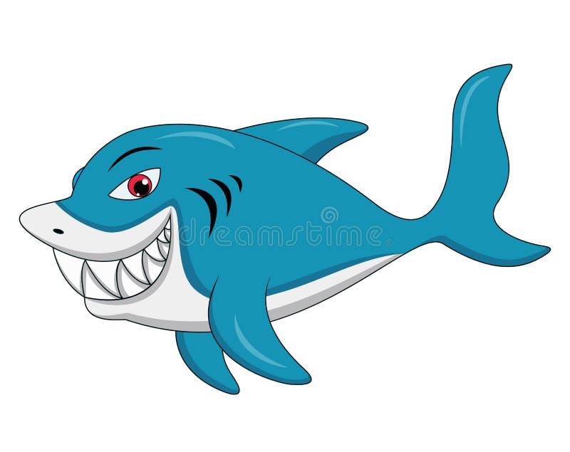 Ejemplo de la historieta del tiburón ilustración del vector