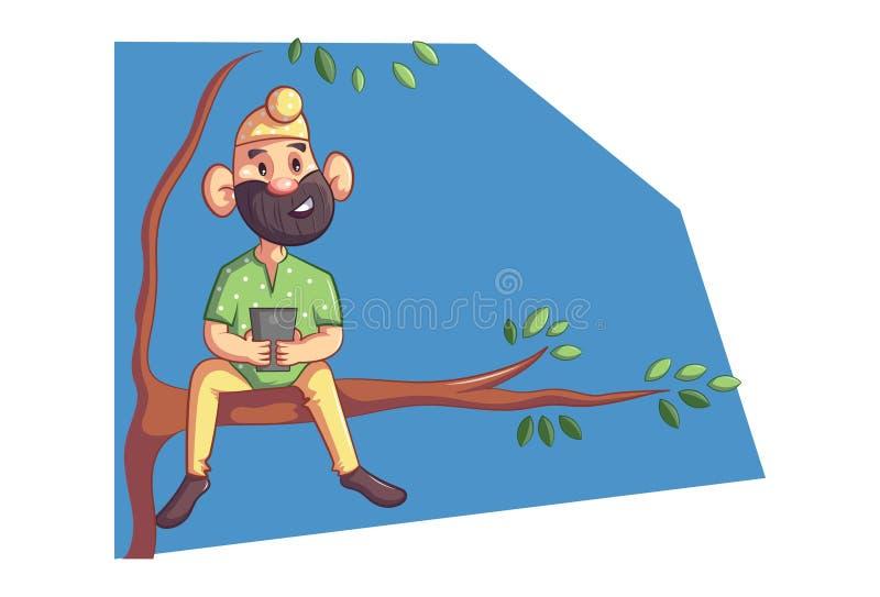 Ejemplo de la historieta del vector del Punjabi Sardar libre illustration