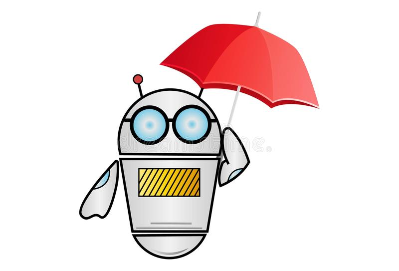Ejemplo de la historieta del vector del robot ilustración del vector