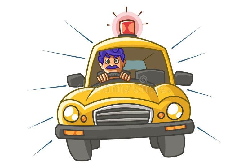 Ejemplo de la historieta del vector del Taxi Driver libre illustration