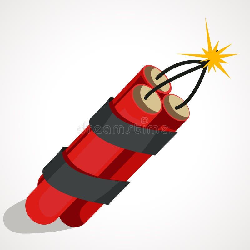 Ejemplo de la historieta de la dinamita stock de ilustración