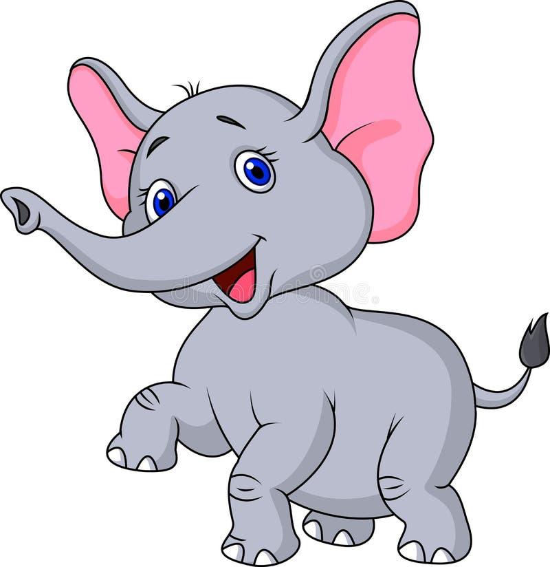 Historieta linda del elefante stock de ilustración