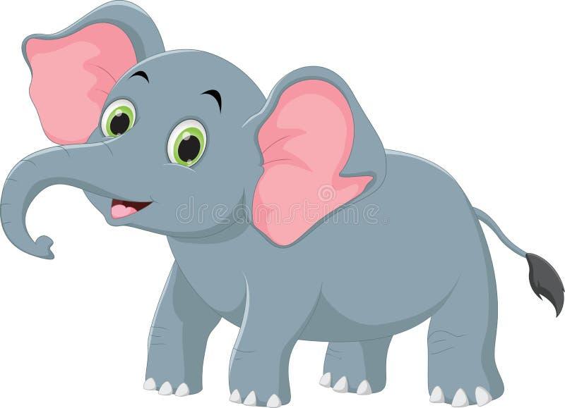 Ejemplo de la historieta linda del elefante stock de ilustración