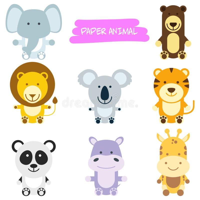 Ejemplo de la historieta de los animales salvajes libre illustration
