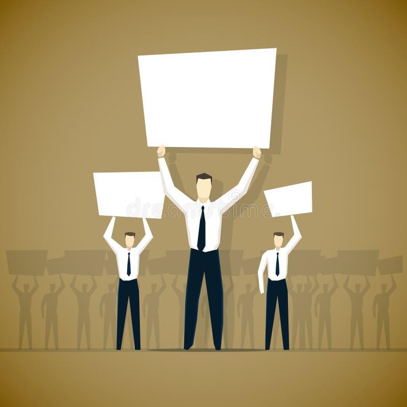 Ejemplo de la huelga del trabajador ilustración del vector