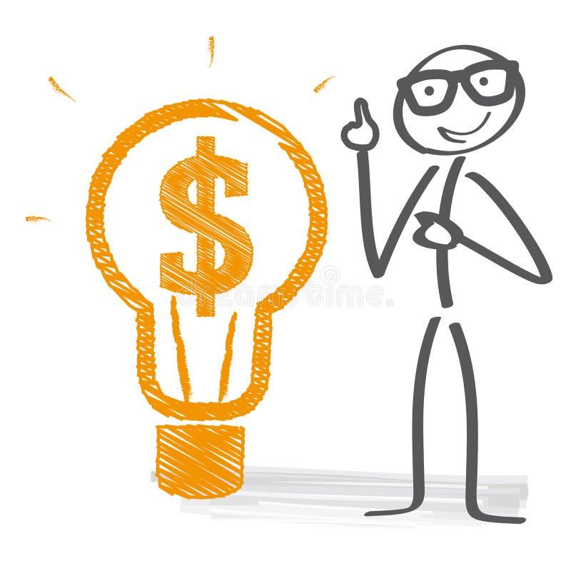 Ejemplo de la idea del negocio ilustración del vector