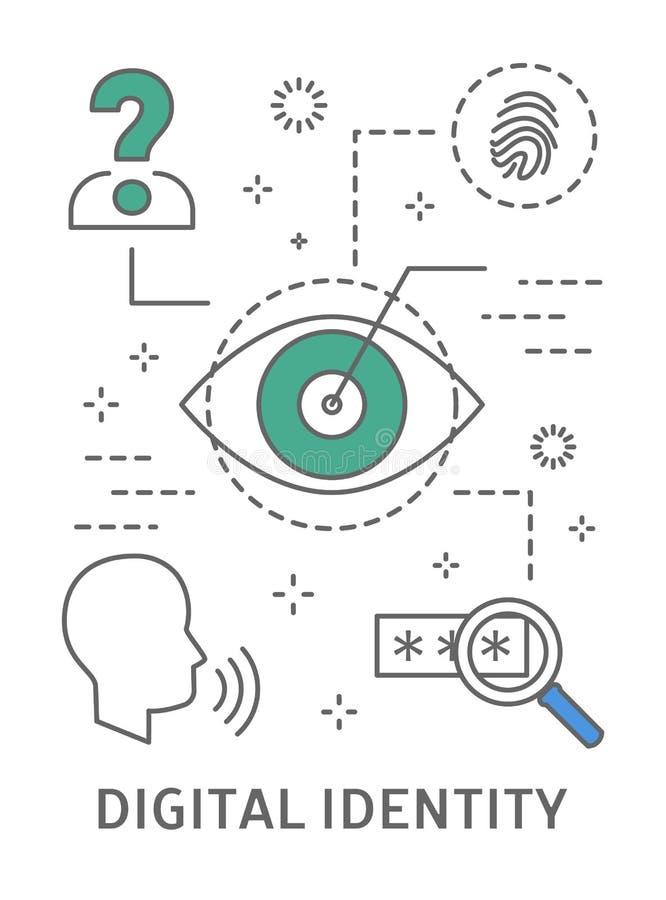 Ejemplo de la identidad de Digitaces libre illustration