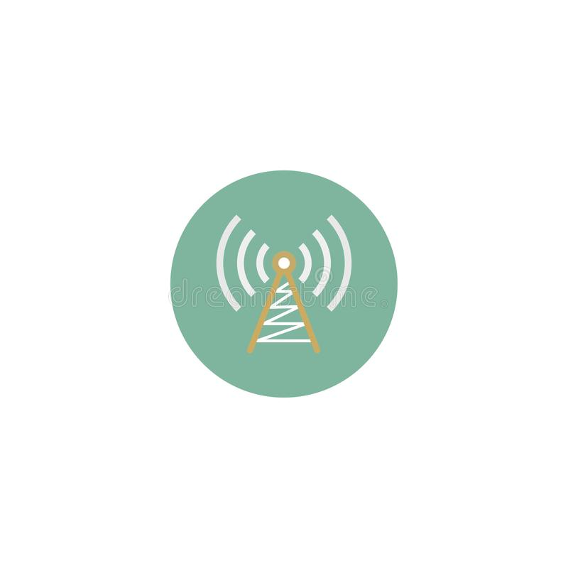 Ejemplo de la imagen de la onda de radio, onda de radio del icono Ilustración del vector EPS 10 libre illustration