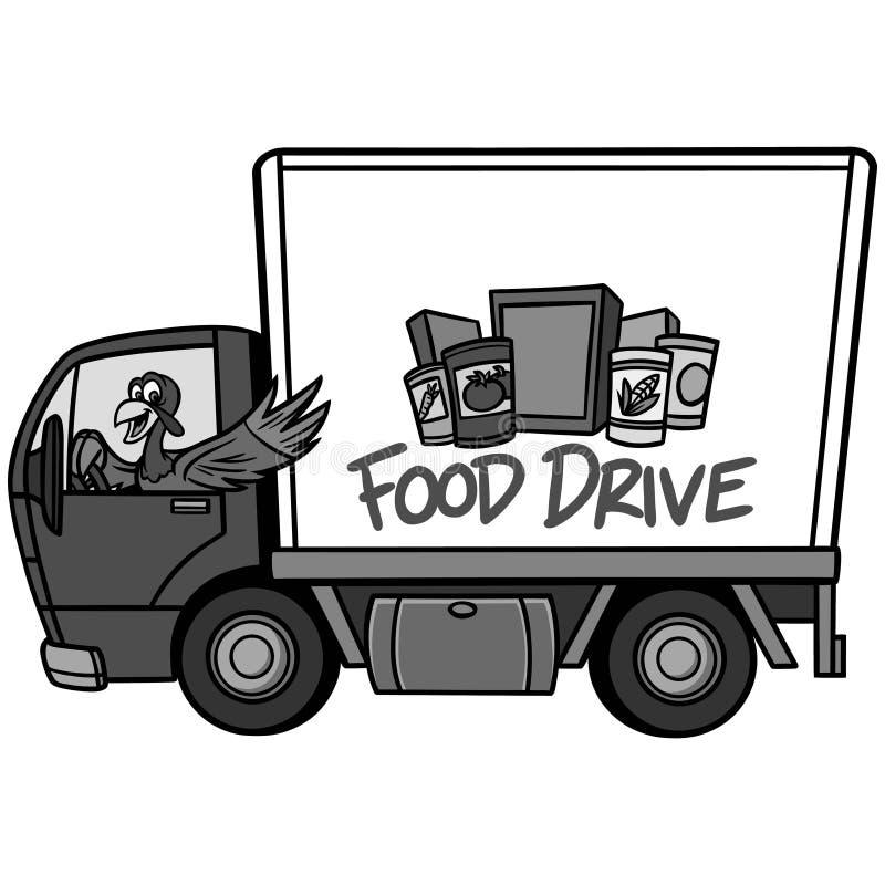 Ejemplo de la impulsión de la comida stock de ilustración