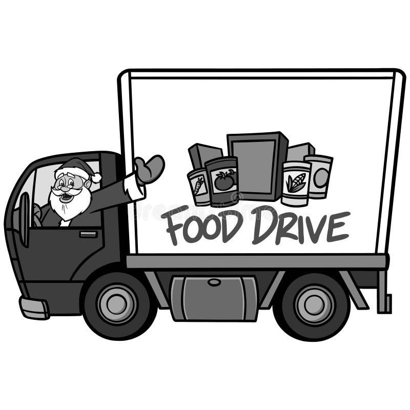 Ejemplo de la impulsión de la comida de la Navidad ilustración del vector