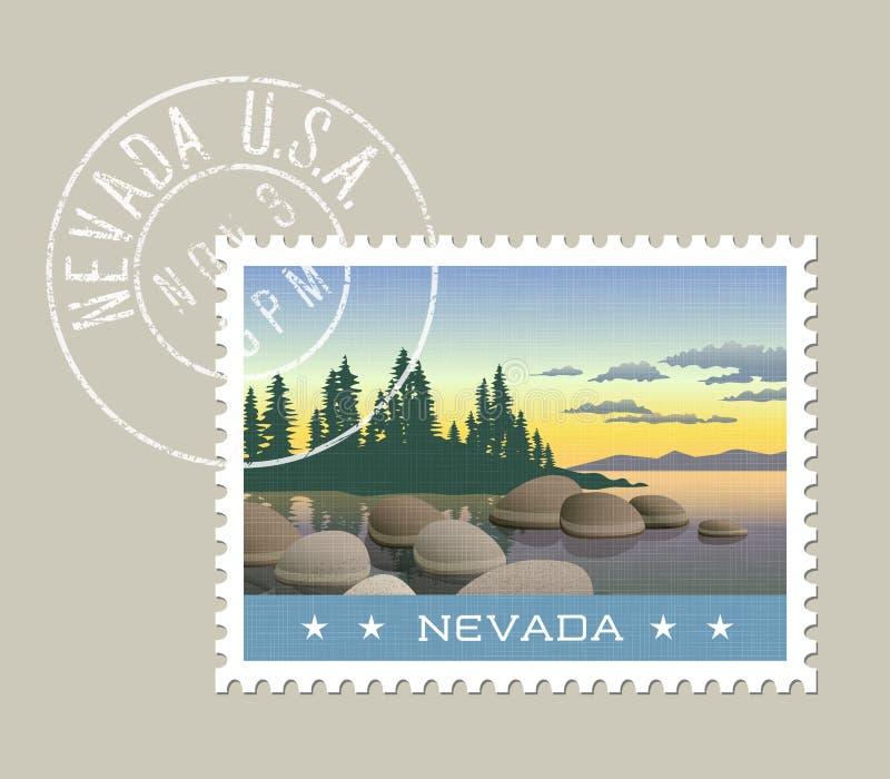 Ejemplo de la línea de la playa del lago Tahoe, Nevada libre illustration