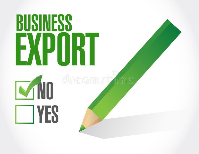 ejemplo de la lista de verificación de la exportación del negocio ilustración del vector