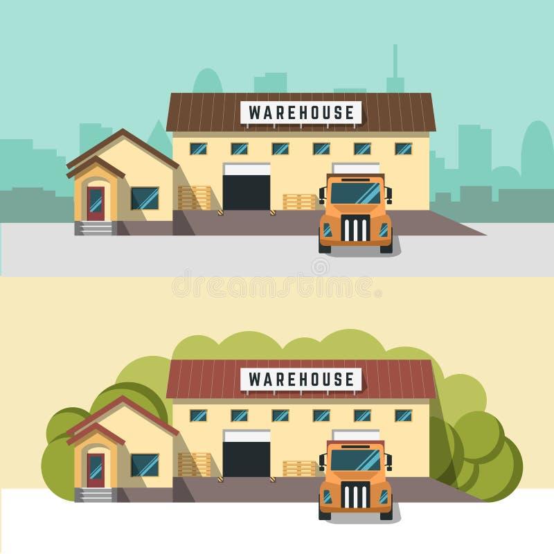 Ejemplo de la logística y del almacén libre illustration