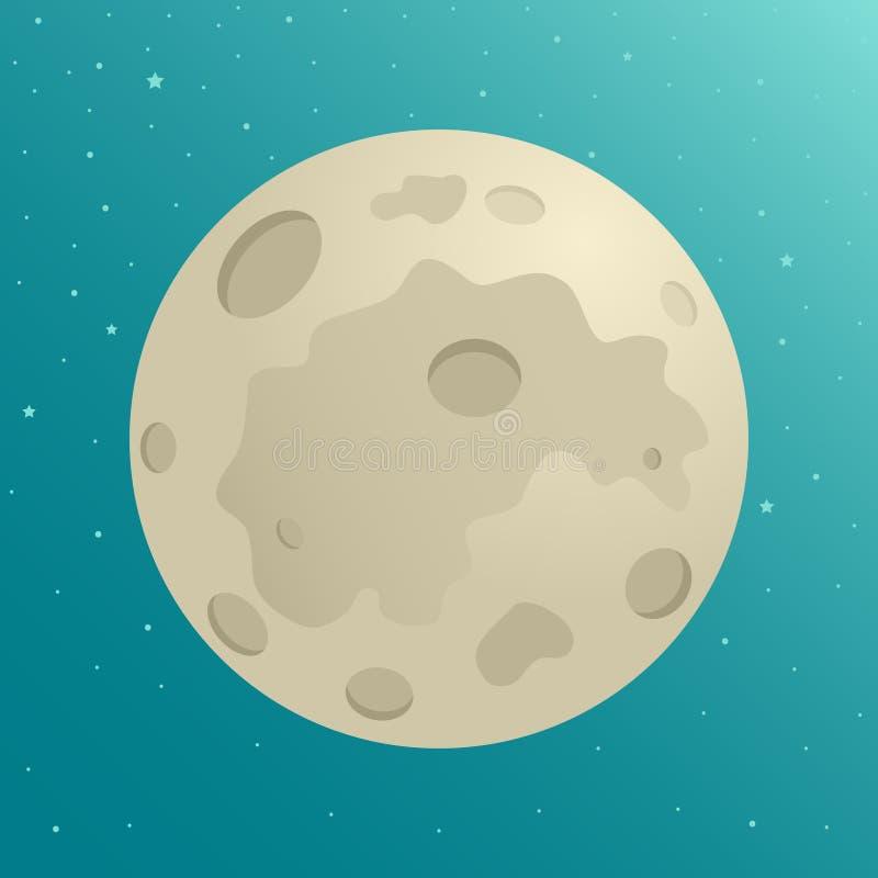 Ejemplo de la luna stock de ilustración