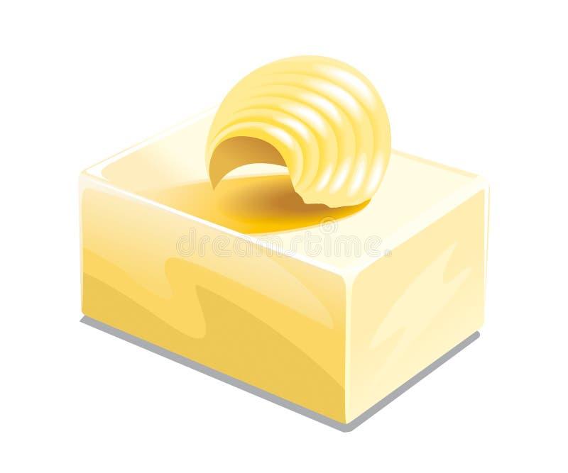 Ejemplo de la mantequilla stock de ilustración