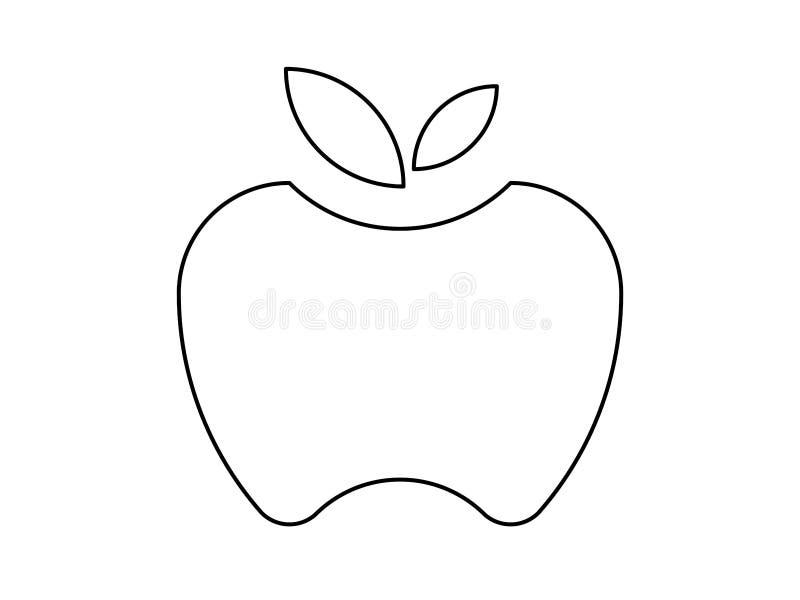 Ejemplo de la manzana stock de ilustración