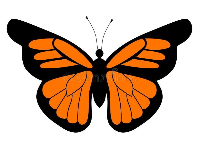 Ejemplo de la mariposa de monarca ilustración del vector