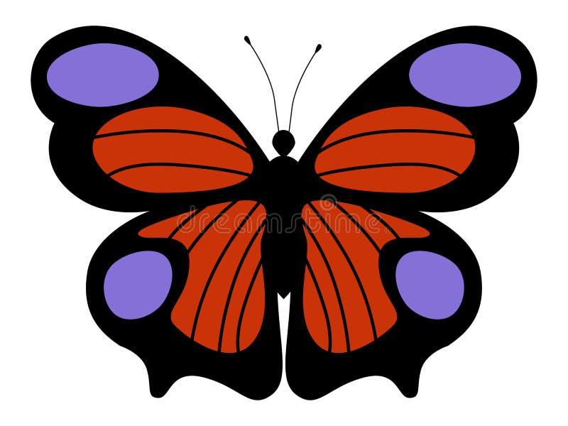 Ejemplo de la mariposa de pavo real libre illustration