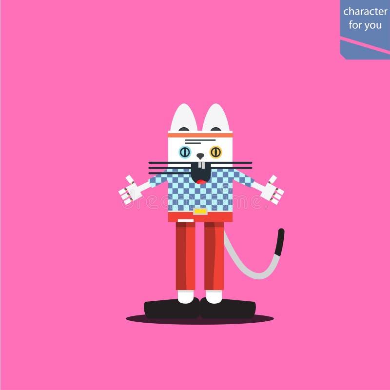 Ejemplo de la moda del gato ilustración del vector