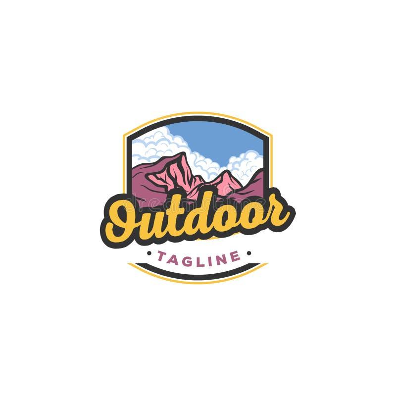 Ejemplo de la monta?a, aventura al aire libre Gr?fico de vector para la camiseta y otras aplicaciones ilustración del vector