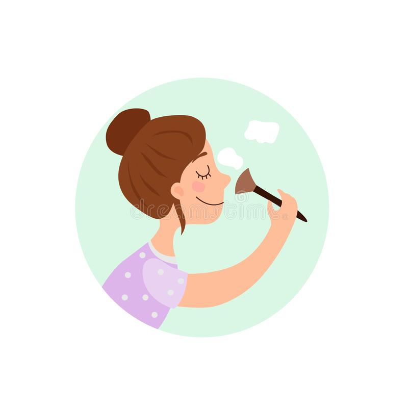 Ejemplo de la muchacha ilustración del vector