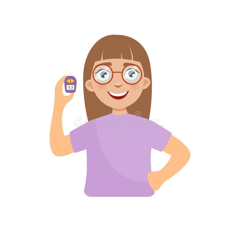 Ejemplo de la muchacha stock de ilustración