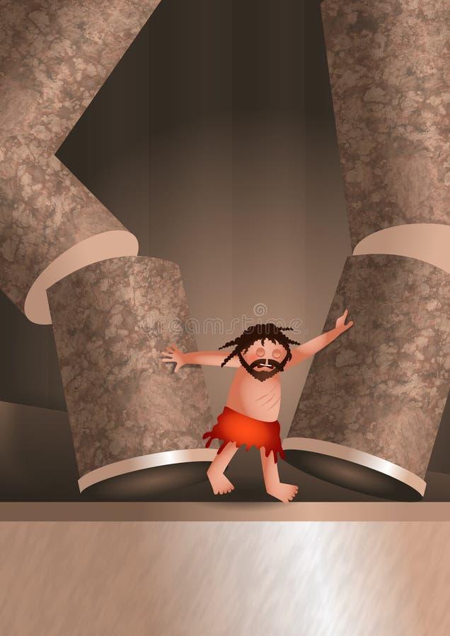 Ejemplo de la muerte de Samsons stock de ilustración