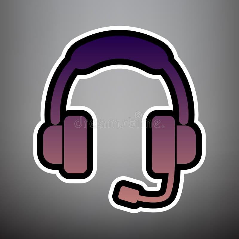 Ejemplo de la muestra de la ayuda Vector Icono violeta de la pendiente con bla ilustración del vector