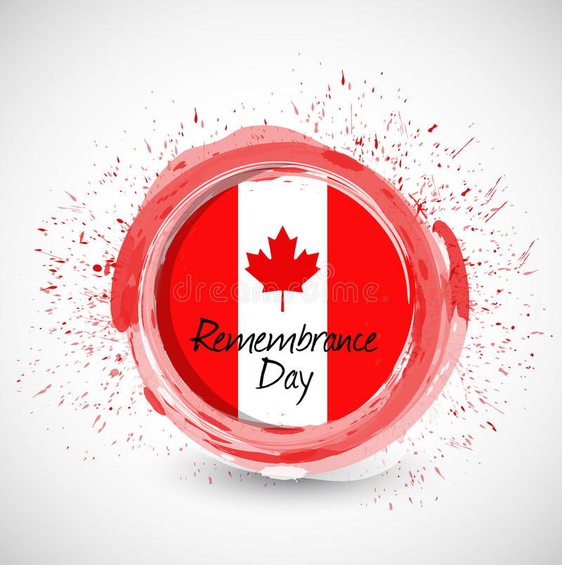 Ejemplo de la muestra de la tinta del día de la conmemoración de Canadá libre illustration
