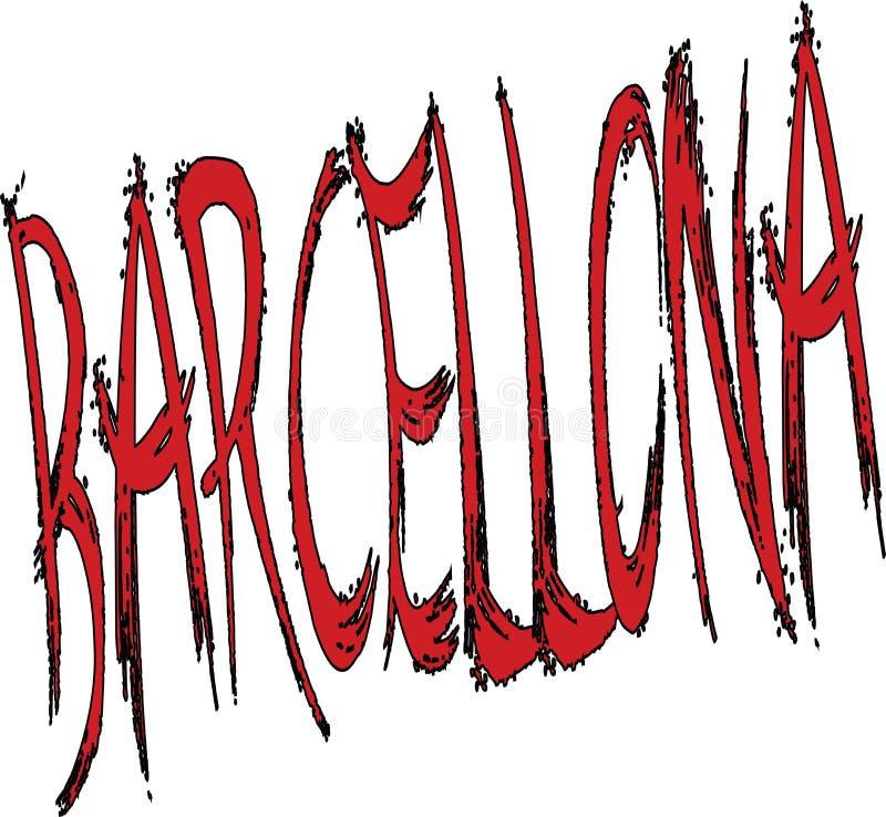 Ejemplo de la muestra del texto de Barcellona imágenes de archivo libres de regalías