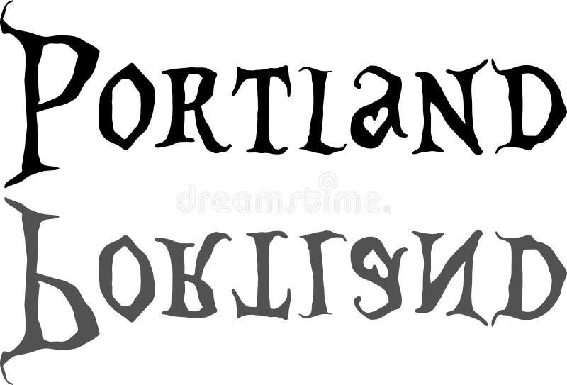 Ejemplo de la muestra del texto de Portland fotografía de archivo