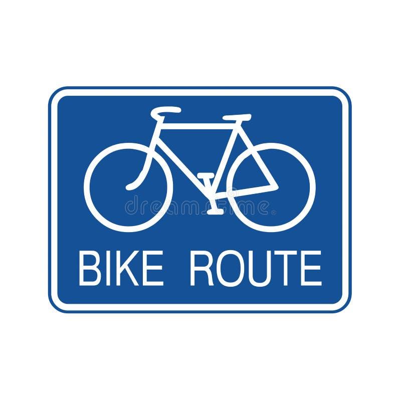 Ejemplo de la muestra de la ruta de la bici libre illustration